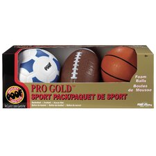 <strong>POOF-Slinky, Inc</strong> Pro Gold Ball Sport 3 Piece Set