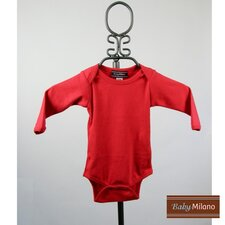 <strong>Baby Milano</strong> Long Sleeve Infant Bodysuit in Red