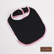 Bib in Black with Pink Camouflage Trim