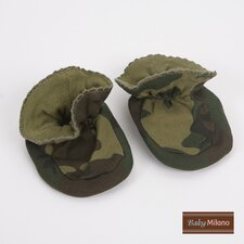 Baby Booties in Green Camouflage