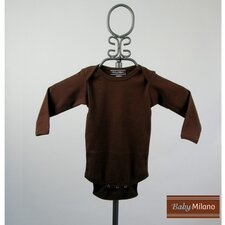 Long Sleeve Infant Bodysuit in Brown
