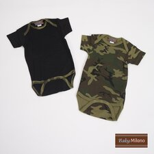 Infant Bodysuit Gift Set in Green Camouflage