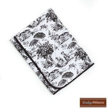 Baby Blanket in Black Toile