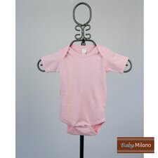 Short Sleeve Infant Bodysuit in Light Pink