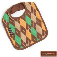 Bib in Brown Argyle
