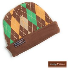 Argyle Hat in Brown