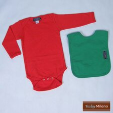 Baby Christmas Outfit in Red and Green