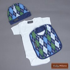 Argyle Baby Boy Gift Set