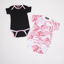 <strong>Baby Milano</strong> Infant Bodysuit Gift Set in Pink Camouflage
