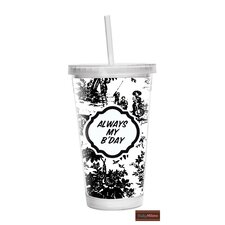 16 oz Toile Double Wall Tumbler