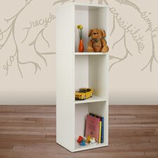 "zBoard Eco 3 Shelf Narrow Slim 44.8"" Bookcase"
