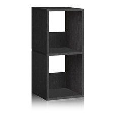 Way Basics Eco 2 Shelf Duo Narrow Bookcase and Storage Shelf