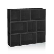"zBoard Storage Eco Stackable Oxford Modular 46.4"" Bookcase"