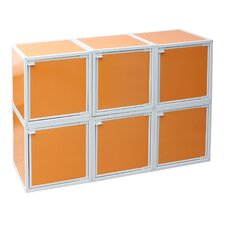 Way Basics Eco Stackable and Modular 6 Box Storage Cubes with Door (optional)