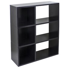Way Basics Eco 3 Shelf Sutton Bookcase and Cubby Storage