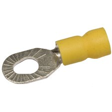 "Vinyl Insulated Multiple-Stud Ring Terminals in Yellow with 12""-10"" Wire and 6""-10"" Stud (Set of 100)"