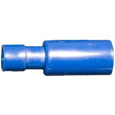 "Nylon Fully Insulated Double Crimp Bullet Disconnects in Blue with 16""-14"" Wire and 0.16"" Bullet"