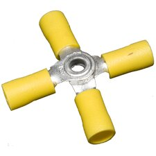 "Vinyl Insulated 4""-Way Connectors in Yellow with 12""-10"" Wire"