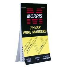 Tyvek Wire Marker Booklets with 1-45 Standard Marking