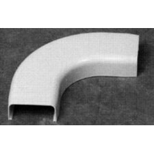 "90 Degree Flat Elbow in White with 1"" Bend Radius"