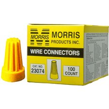 <strong>Morris Products</strong> Screw-On Wire P4 Connectors in Yellow (Boxed 100 Pack)
