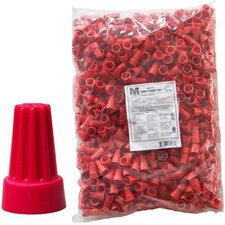 Screw-On Wire P6 Connectors in Red (Bagged 500 Bulk Pack)