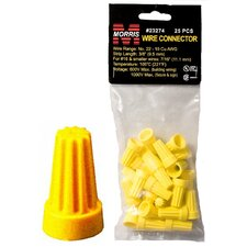 Screw-On Wire P4 Connectors in Yellow (Set of 25)