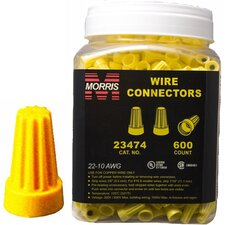 Screw-On Wire P4 Large Connectors Jar in Yellow