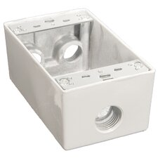 "Weatherproof Boxes in White with 0.5"" Outlet Holes"