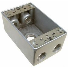 "2"" Weatherproof Boxes in Gray with 0.5"" Outlet Holes"