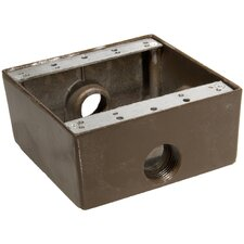 "Weatherproof Boxes in Bronze with Outlet Holes 0.75"" in Bronze"