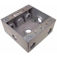 """4.5"""" Weatherproof Boxes in Gray with 7 Outlet Holes"""
