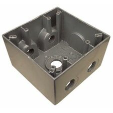 """4.5"""" Weatherproof Boxes in Gray with 5 Outlet Holes"""