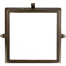 Small Floodlight Replacement Door Frame in Bronze with Glass Mounted