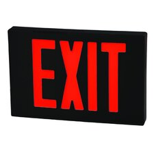 Cast Aluminum LED Exit Sign with Red Lettering, Black Housing and Black Face