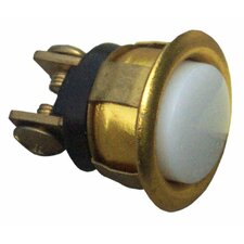 Gold Rim Lit Pushbutton in Chrome