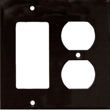 2 Gang 1 GFCI 1 Duplex Lexan Wall Plates in Brown