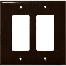 2 Gang Midsize Decorative / GFCI Lexan Wall Plates in Brown