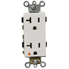 20A-125V Decorator Isolated Ground Duplex Receptacle in White