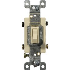 15A-120/277V 4 Way Toggle Switch in Ivory