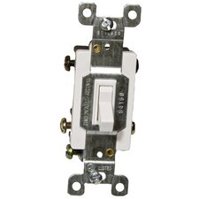 15A-120/277V 4 Way Toggle Switch in White