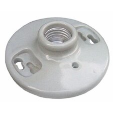 "Porcelain Receptacles Keyless 6"" Lead"