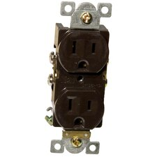 Commercial Duplex Receptacle in Brown