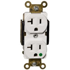 20A Hospital Grade Duplex Receptacle in White