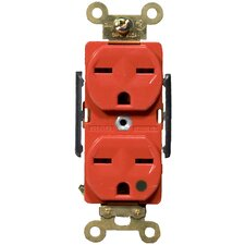 15A-250V Hospital Grade Duplex Receptacle in Red