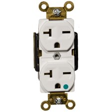 20A-250V Hospital Grade Duplex Receptacle in White