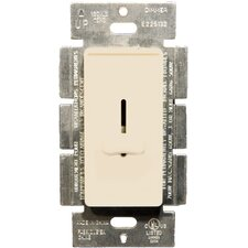 Slide Single Pole Dimmer in Almond