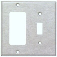 <strong>Morris Products</strong> Two Gang / Toggle and GFCI Metal Wall Plates in Stainless