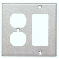 <strong>Morris Products</strong> Two Gang / GFCI and Duplex Metal Wall Plates in Stainless