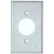 "1.62"" Gang Single Receptacle Metal Wall Plates in Stainless"